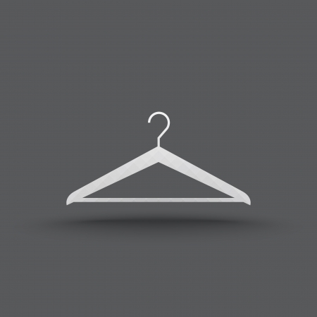 transparent hanger clothes icon Vector