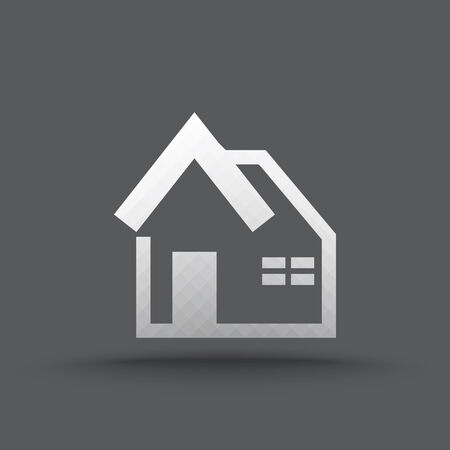 Vector of transparent house icon on isolated background Vector