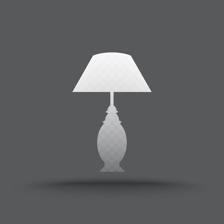 table lamp: Vector of transparent table lamp icon on isolated background