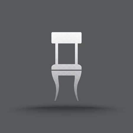 Vector of transparent chair icon on isolated background Vector