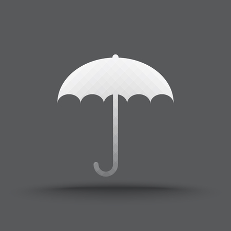 rainproof: Vector of transparent umbrella icon on isolated background