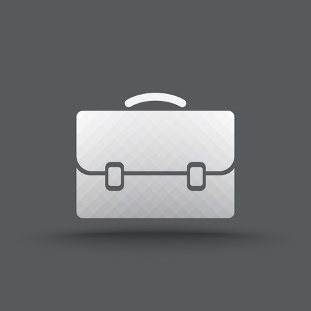 Vector of transparent business briefcase icon on isolated background Vector