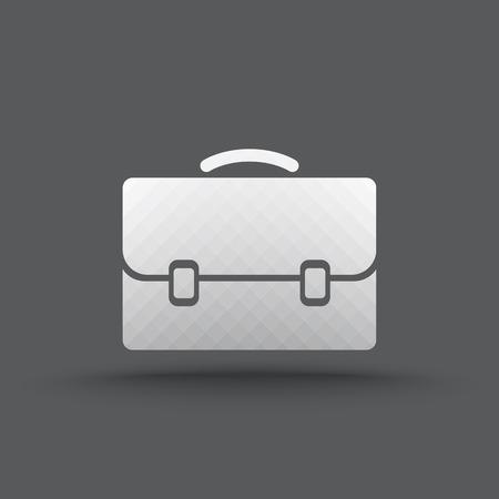 Vektor der transparenten Business Aktenkoffer-Symbol auf isoliert Hintergrund Vektorgrafik
