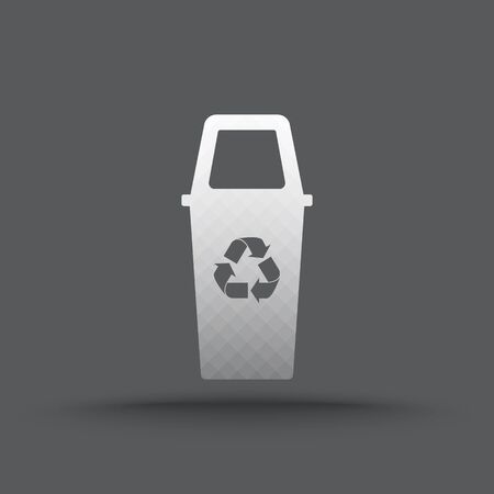 pail tank: Vector of transparent recycle bin icon on isolated background