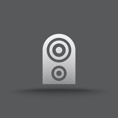 Vector of transparent speakers icon on isolated background Vector