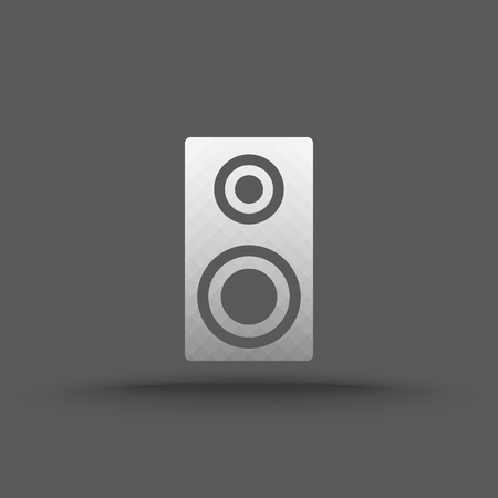 surround: Vector of transparent speakers icon on isolated background