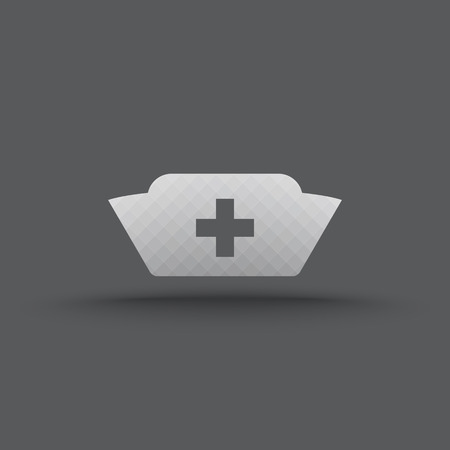 nurse hat: Vector of transparent nurse cap icon on isolated background