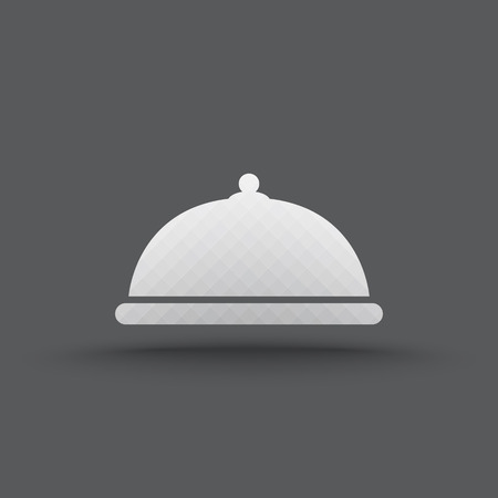 Vector of transparent food platter icon on isolated background