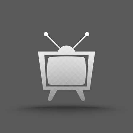 vintage television: Vector of transparent vintage television icon on isolated background