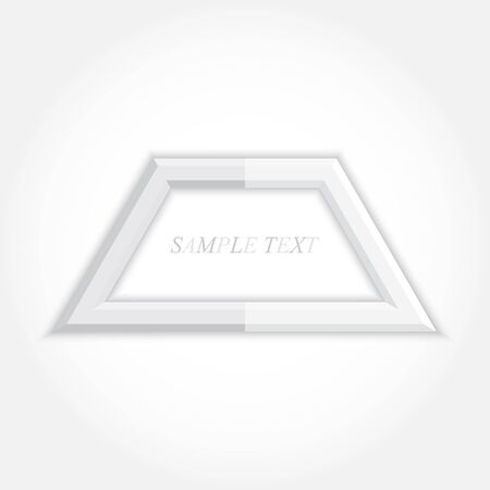 trapezoid: 3d abstract background and square icon design