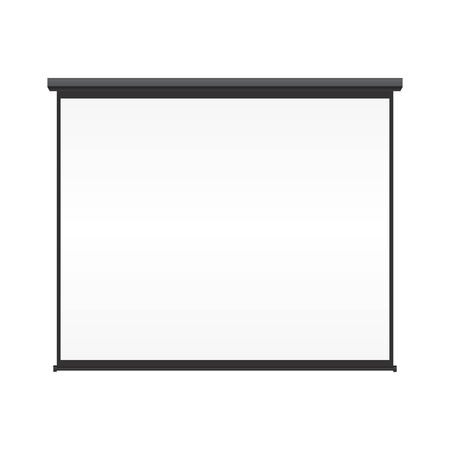 Blank projection screen on isolated white background Vector
