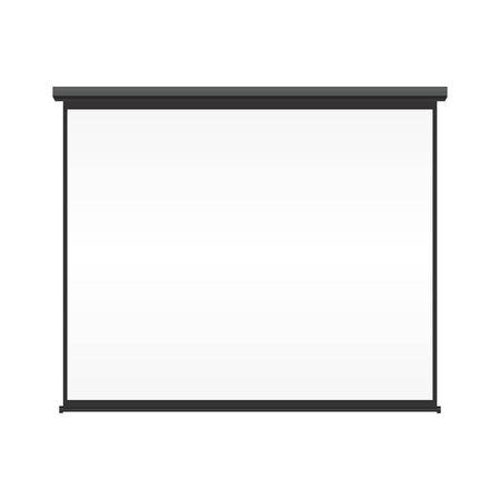 Lege projectiescherm op geïsoleerde witte achtergrond Stock Illustratie
