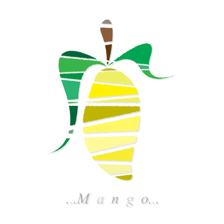 mango icon on isolated white background Vector
