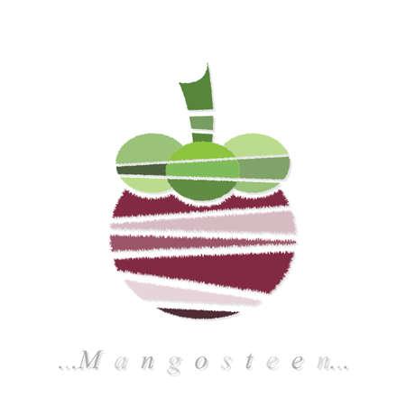 mangosteen: mangosteen icon on isolated white background