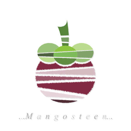 mangosteen icon on isolated white background