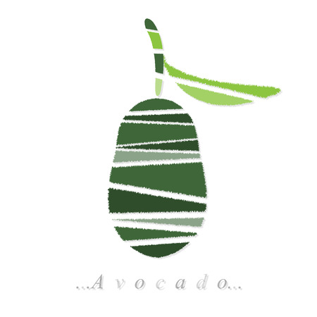 avocado icon on isolated white background Vector