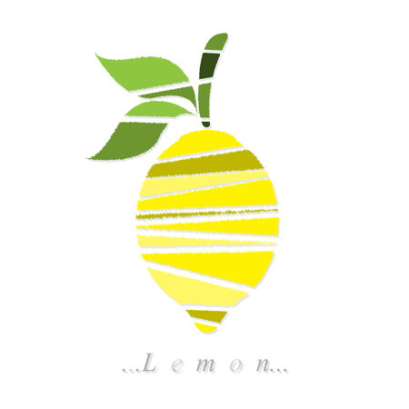 Vector of fruit, lemon icon on isolated white background Vector