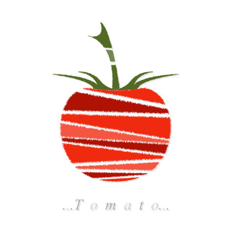 vegetable, tomato icon on isolated white background Vector