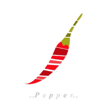 vegetable, chili pepper icon on isolated white background
