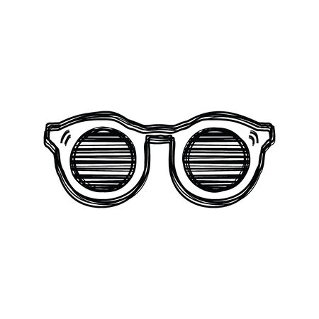 sketch doodle, glasses icon on isolated background Vector