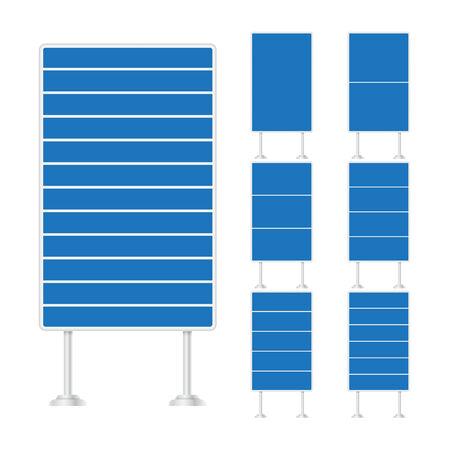 signal pole: Vector set of signpost on isolated white background Illustration