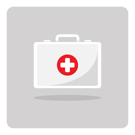 first aid sign: Vector of first aid kit icon on isolated background Illustration