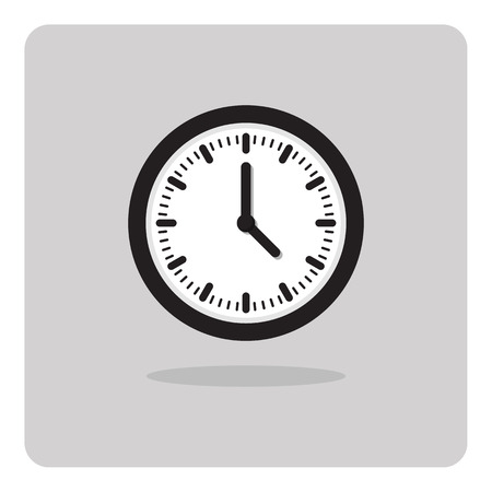 shadow face: Vector of wall clock icon on isolated background