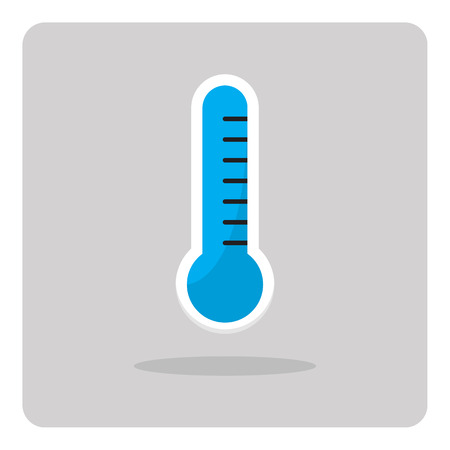 coldness: Vector of flat icon, thermometer on isolated background Illustration