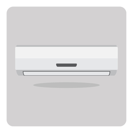 aire acondicionado: icono plana, aire acondicionado en el fondo aislado