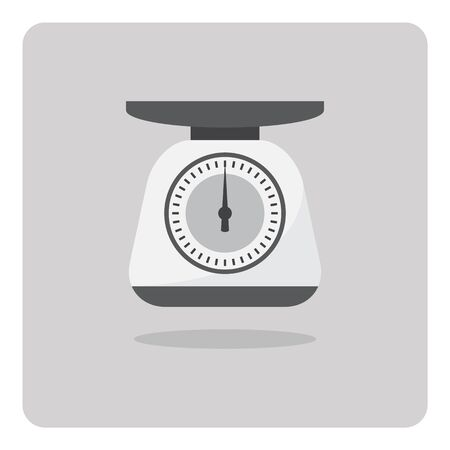weight scales: Vector of flat icon, weight scales on isolated background Illustration