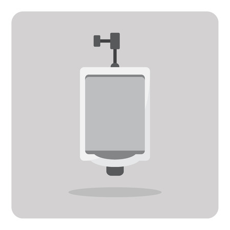 urinal: Vector of flat icon urinal on isolated background
