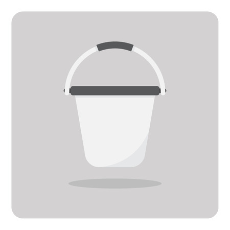 pail tank: Vector of flat icon bucket on isolated background Illustration
