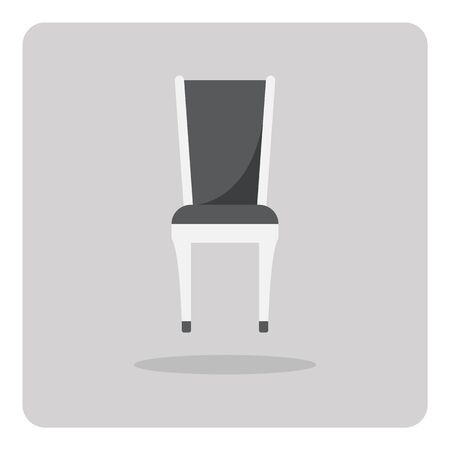 Vector of flat icon chair on isolated background Vector