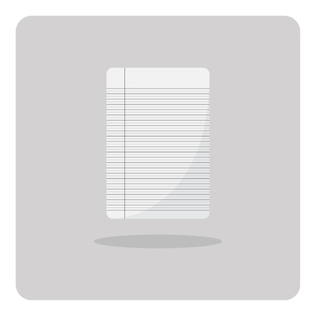 decorate notebook: Vector of flat icon notebook paper on isolated background Illustration