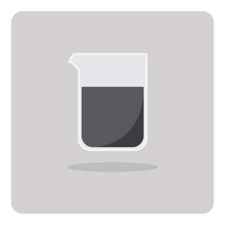 a substance vial: Vector of flat icon beaker on isolated background