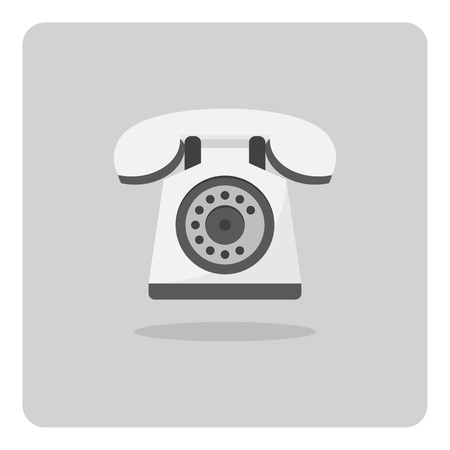 Vector of flat icon old telephone isolated background Vector