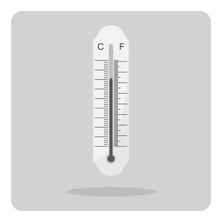 coldness: Vector of flat icon thermometer on isolated background Illustration
