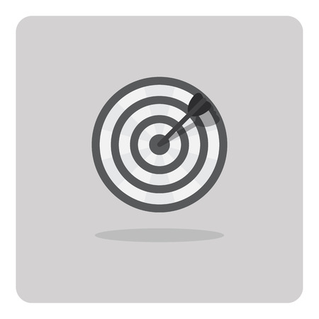 Vector of flat icon dart board on isolated background Vector