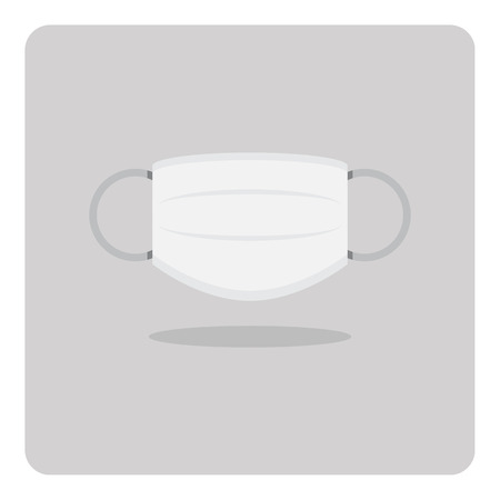 Vector of flat icon medical mask on isolated background