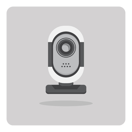 Vector of flat icon, webcams camera on isolated background