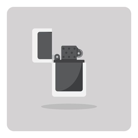 encendedores: Vector of flat icon, lighters on isolated background