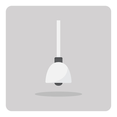 ceiling light: Vector of flat icon, ceiling light on isolated background