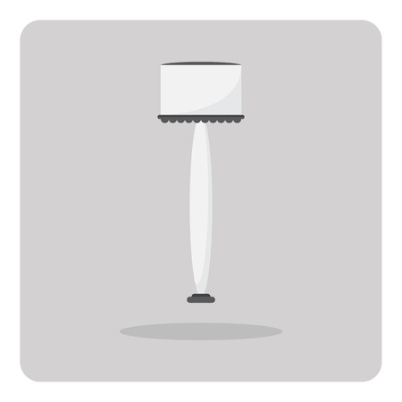 floor lamp: Vector of flat icon, Floor lamp on isolated background Illustration