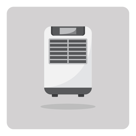 Vector of flat icon, Air cooler on isolated background