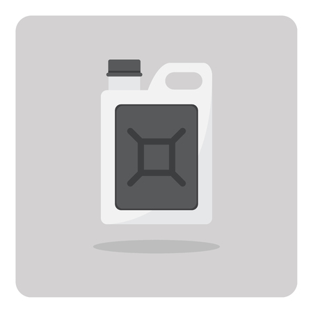 gal�n: Vector of flat icon, Oil gallon on isolated background