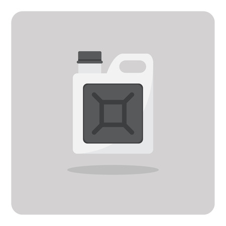 gallon: Vector of flat icon, Oil gallon on isolated background