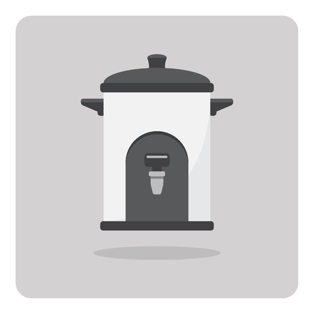 water cooler: Vector of flat icon, Water cooler on isolated background Illustration