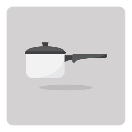 saucepan: Vector of flat icon, Saucepan on isolated background
