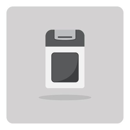 seasoning: Vector of flat icon, Seasoning bottle on isolated background Illustration