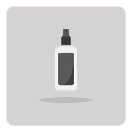 packaging equipment: Vector of flat icon, Spray bottle on isolated background Illustration
